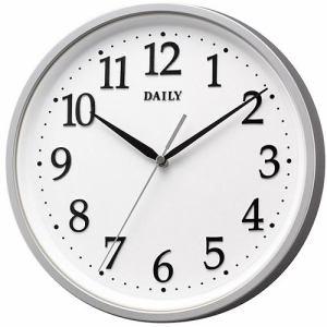リズム時計 4KGA09DN19 掛時計 デイリーM09 シルバーメタリック色