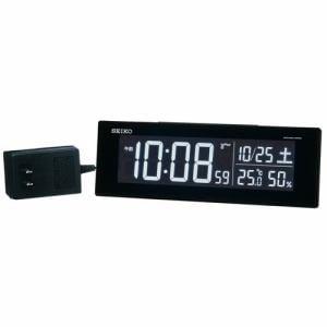 セイコークロック DL305K 電波目覚まし時計 SEIKO  黒塗装