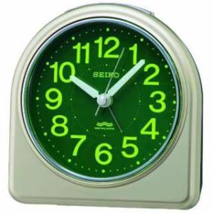 セイコークロック KR332G 電波目覚まし時計 SEIKO  薄金色パール塗装