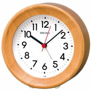 セイコークロック KR899A 目覚まし時計 SEIKO  ビーチ・天然色木地塗装