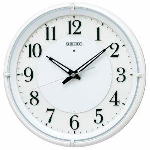 セイコークロック KX233W 電波掛時計 SEIKO  白パール塗装