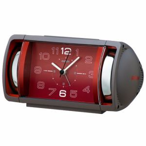 セイコークロック NR447N 目覚まし時計 RAIDEN  グレー塗装