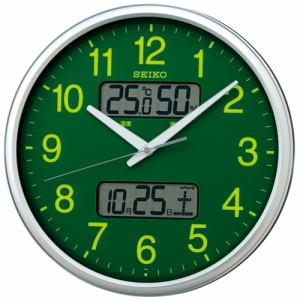 セイコークロック KX235H 電波掛時計 カレンダー、温度・湿度表示付