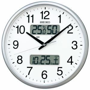 セイコークロック KX235S 電波掛時計 カレンダー、温度・湿度表示付