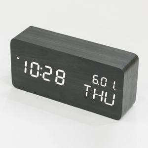 HerbRelax YLCDWF1K ヤマダ電機オリジナル LEDクロック ブラック