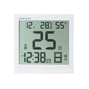 アデッソ BC-8656 大画面クリア日めくり電波時計
