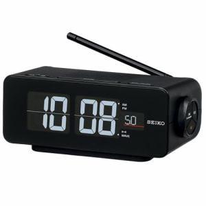 セイコークロック DL213K 電波クロック 電子音(スヌーズ機能付) ワイドFM対応ラジオ搭載