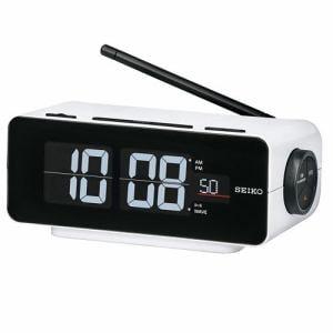 セイコークロック DL213W 電波クロック 電子音(スヌーズ機能付) ワイドFM対応ラジオ搭載