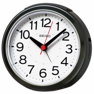 セイコークロック KR334K 電波目覚まし時計 電子音(スヌーズ機能付) ステップ秒針 黒メタリック塗装
