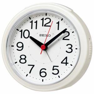 セイコークロック KR334W 電波目ざまし時計 白パール