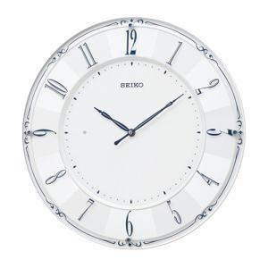 セイコー KX504W 電波掛時計 ホワイト