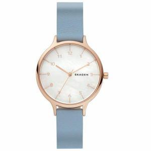 スカーゲン SKW6429 Anita Mother of Pearl Blue Leather Watch レディース 並行輸入品