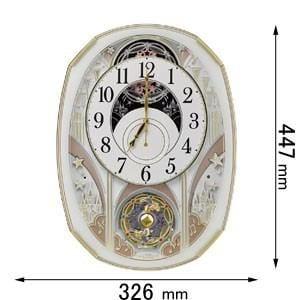 リズム時計 4MN551RH03 電波掛け時計 からくり時計スモールワールドノエルS