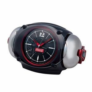 セイコークロック AC605K 目覚時計 コカ・コーラ 黒メタリック塗装
