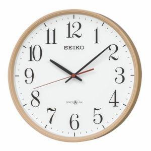 セイコークロック GP220A 衛星電波掛時計 SEIKO 薄茶木目模様塗装
