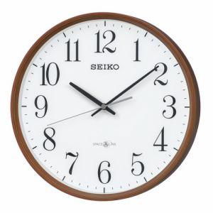 セイコークロック GP220B 衛星電波掛時計 SEIKO 薄茶木目模様塗装