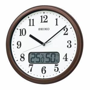 セイコークロック KX244B 電波掛時計 SEIKO 茶メタリック塗装