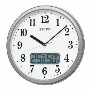 セイコークロック KX244S 電波掛時計 SEIKO 銀色メタリック塗装