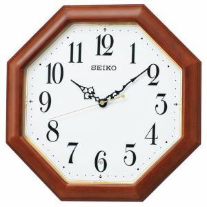 セイコークロック KX247B 電波掛時計 SEIKO アルダー・茶木地塗装