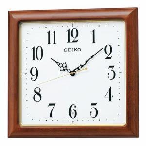 セイコークロック KX248B 電波掛時計 SEIKO アルダー・茶木地塗装