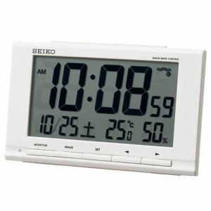 セイコークロック SQ789W 電波目覚時計 SEIKO 白