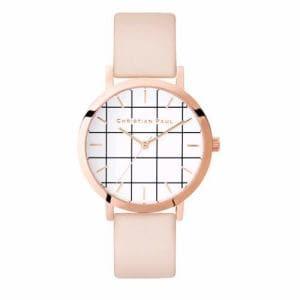 CHRISTIAN PAUL GL02PCPG/35 腕時計 クリスチャンポ-ル グリッド 35mm 白