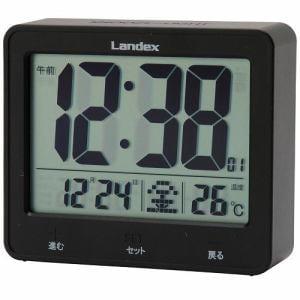 LANDEX YT5253BK タッチライトマスター  電波時計 黒