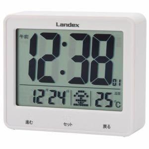LANDEX YT5253WH タッチライトマスター  電波時計 白