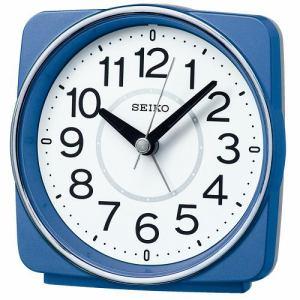 セイコー 電波目ざまし時計 KR335L 青メタリック