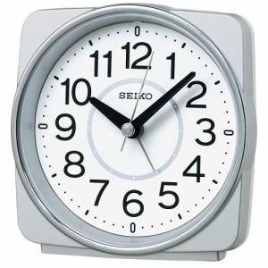 セイコー 電波目ざまし時計 KR335S 銀色メタリック