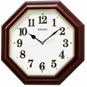 セイコークロック KX251B 電波掛時計 濃茶木地塗装光沢仕上げ