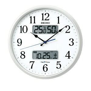 セイコー 電波掛け時計 「ネクスタイム」 ZS250W 白パール