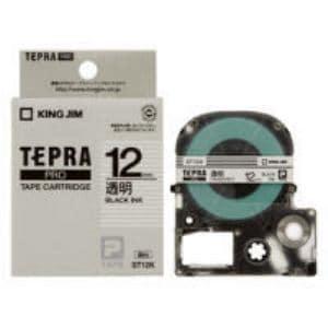 透明ラベルテープ 「テプラPRO」(透明テープ/黒文字/12MM幅) ST12K