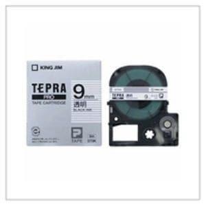 透明ラベルテープ 「テプラPRO」(透明テープ/黒文字/9MM幅) ST9K