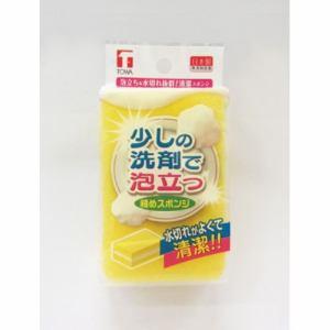 東和産業  少しの洗剤で泡立つキッチンスポンジ 台紙付