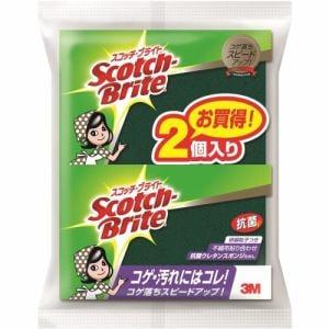 スリーエム ジャパン株式会社 S-21KS 2PM スコッチ・ブライト(TM) 抗菌ウレタンスポンジ゙たわし (2個入り)