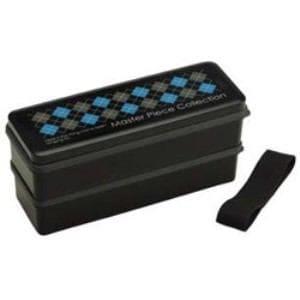 スケーター SSLW9 マスターピース シリコン製シールブタ 2段ランチBOX 900ml 黒