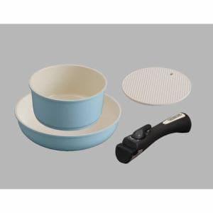 アイリスオーヤマ CC-SE3N セラミックカラーパン 3点セット IH対応 ブルー