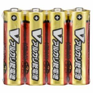 オーム電機 LR6/S4P/V 単3形 Vアルカリ乾電池 4本入