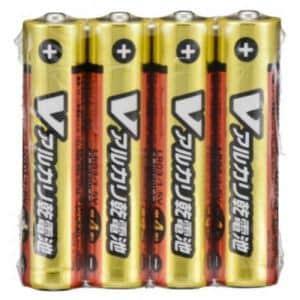 オーム電機 LR03/S4P/V 単4形 Vアルカリ乾電池 4本入