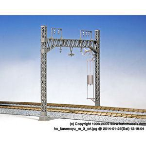 カトー (HO) 5-053 複線ワイドラーメン架線柱 6本入(張力調整装置付)