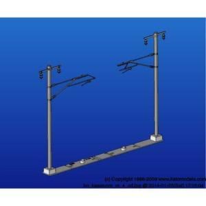 カトー (HO) 5-054 単線ワイド架線柱 12本入(張力調整装置付)