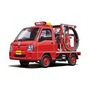 アオシマ  1/24 サンバー消防車4WD(トラック型)