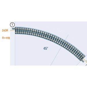 トミックス (N) 1855 ファイントラック カーブレール C243-45(F) 4本セット