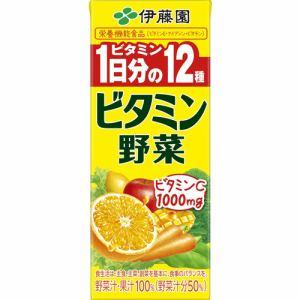 伊藤園 野菜・果汁ミックスジュース 紙ビタミン野菜 200ml