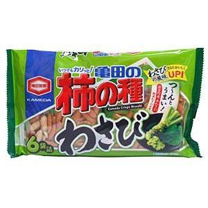 亀田製菓 182g亀田の柿の種わさび6袋詰 亀田の柿の種わさび6袋詰 182g