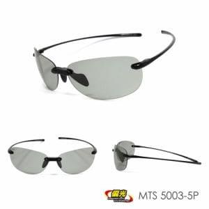 (株)ミック MPS18-MTS5003ヘンコウ-5P 超軽量偏光スポーツサングラス montagna  ブラック