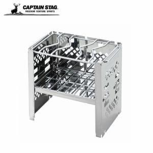 キャプテンスタッグ 薪グリル カマド スマートグリル B6型 3段調節 UG-0043 CAPTAIN STAG