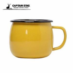 キャプテンスタッグ CAPTAIN STAG  食器 マグカップ  ホーロー イエロー UH-0503