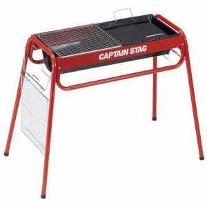 CAPTAIN STAG M-6489 キャプテンスタッグ スライド グリルフレーム 650(レッド)